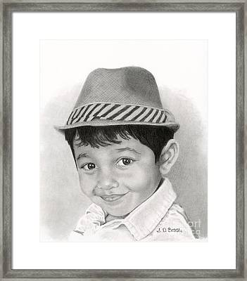 Boy In Fedora Framed Print