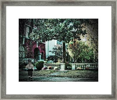 Boy Lost In Time Framed Print