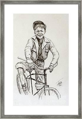 Boy Of The 1930s Framed Print