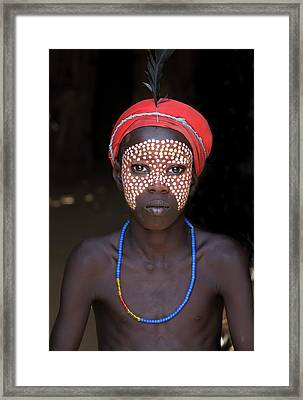 Boy Of The Dassenech Tribe Framed Print