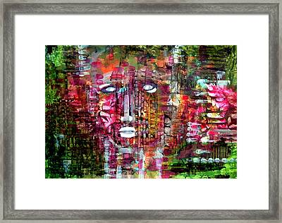 Boy On The Wall Framed Print by Aquira Kusume
