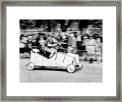 Boy Scouts Soap Box Derby, 1955 Framed Print by British School