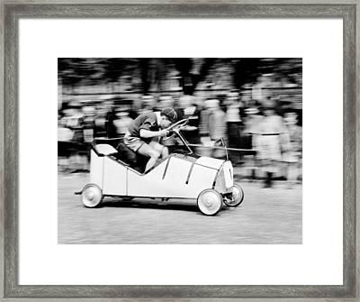 Boy Scouts Soap Box Derby, 1955 Framed Print