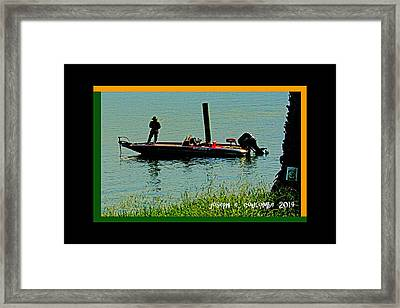 Boy Water Toys Framed Print by Joseph Coulombe