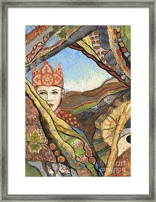 Boy With A Crown Framed Print