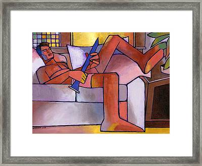 Boy With A Horn Framed Print by Douglas Simonson