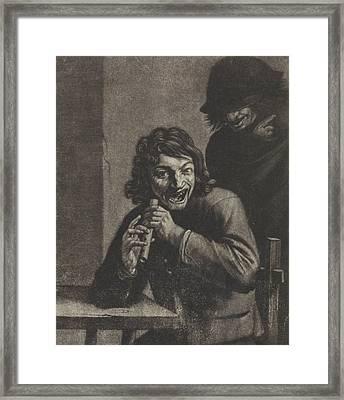 Boy With Flute, Attributed To Jan Van Der Bruggen Framed Print by Jan Van Der Bruggen