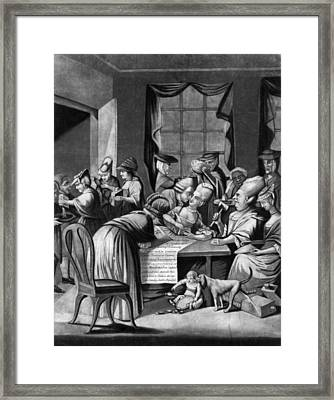 Boycott Of British Tea Framed Print by Granger