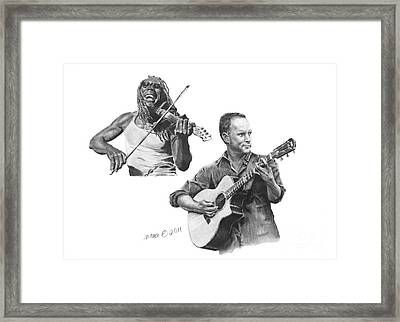 Boyd And Dave Framed Print