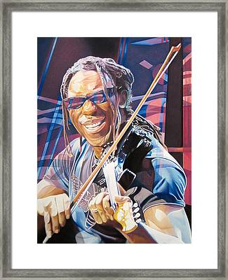 Boyd Tinsley And 2007 Lights Framed Print by Joshua Morton