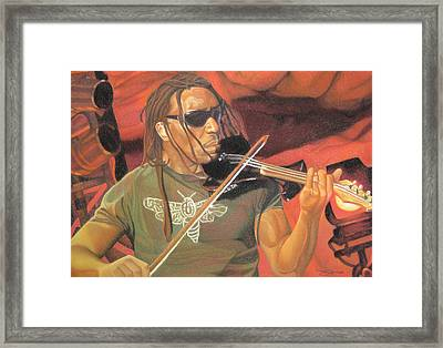 Boyd Tinsley At Red Rocks Framed Print by Joshua Morton