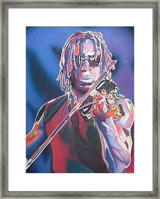 Boyd Tinsley Colorful Full Band Series Framed Print