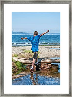 Boyhood Fun Art Prints Framed Print