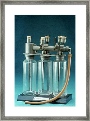 Boyle Anaesthetic Apparatus Framed Print by Science Photo Library