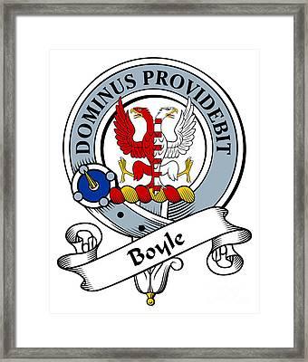 Boyle Clan Badge Framed Print by Heraldry
