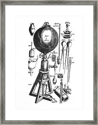 Boyle's Vacuum Pump Framed Print by Emilio Segre Visual Archives/american Institute Of Physics