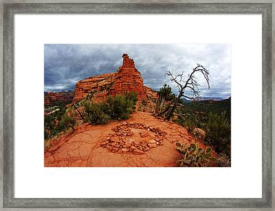 Boynton Vortex Heart Framed Print by Daniel Woodrum