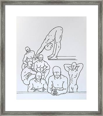 Boys At Play #5 Framed Print