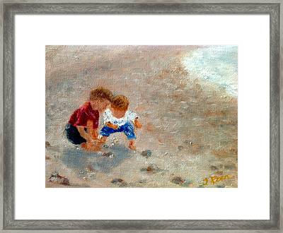 Boys At Play Framed Print