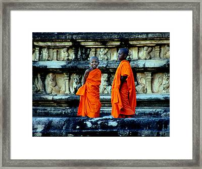 Boys In Training Framed Print