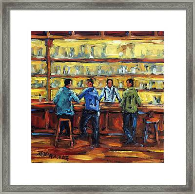 Boys Night Out By Prankearts Framed Print