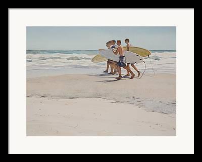 Boys Of Summer Framed Prints
