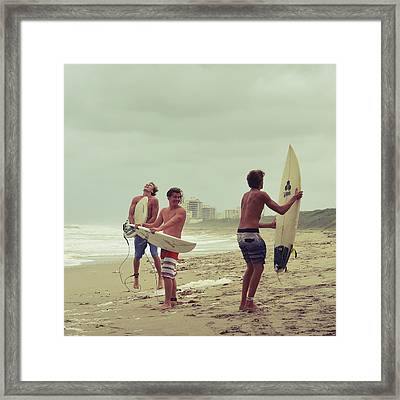 Boys Of Summer Framed Print by Laura Fasulo