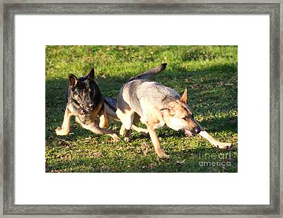Boys Playing Ball Framed Print