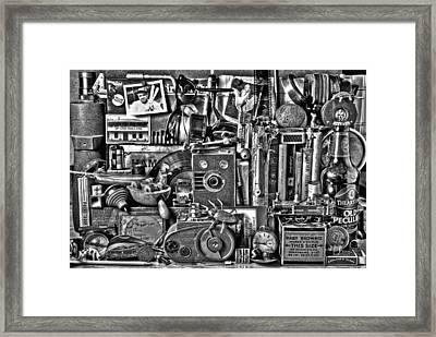 Boys Toys Framed Print by Mal Bray