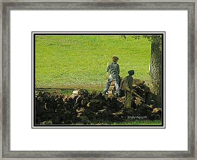 Boys Will Be Boys Framed Print by Kathy Barney