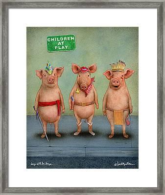 Boys Will Be Boys... Framed Print by Will Bullas