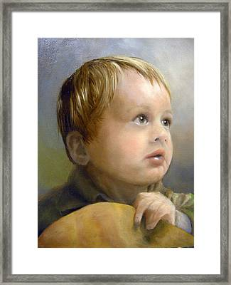 Boy's Wonder Framed Print