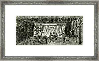 Boys Working In An English  Rope Framed Print
