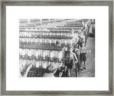 Boys Working In The Olympian  Cotton Framed Print