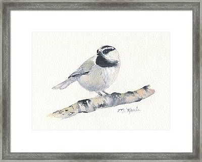 Bozeman Native - Mountain Chickadee Framed Print