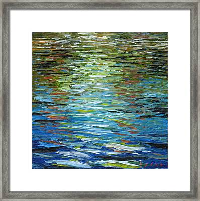 B.p. Oil In The Water Framed Print
