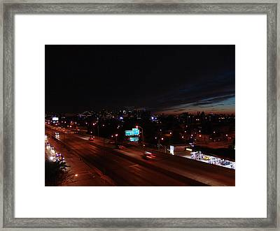 Bqe - Greenpoint - Brooklyn Nyc Framed Print by Mieczyslaw Rudek