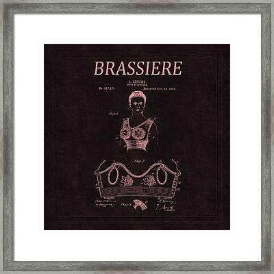 Bra Patent 10c Framed Print by Andrew Fare