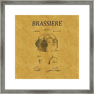 Bra Patent 11 Framed Print by Andrew Fare