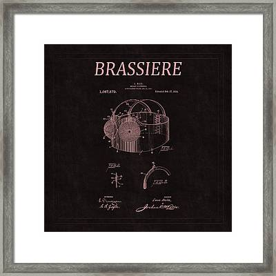 Bra Patent 14 Framed Print by Andrew Fare