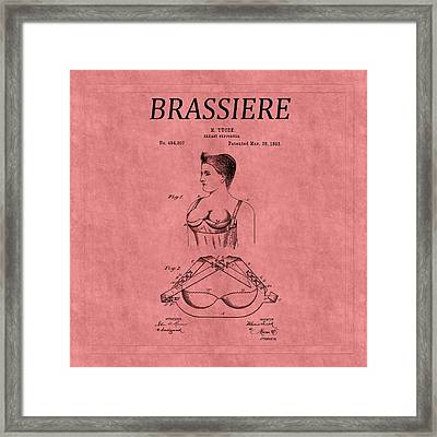 Bra Patent 3 Framed Print by Andrew Fare