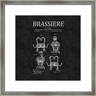 Bra Patent 6 Framed Print by Andrew Fare