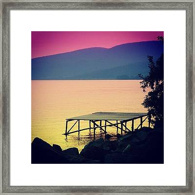 Bracciano' S Lake Framed Print