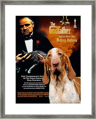 Bracco Italiano Art Canvas Print - The Godfather Movie Poster Framed Print by Sandra Sij