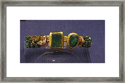 Bracelet With Emeralds Framed Print by Andonis Katanos