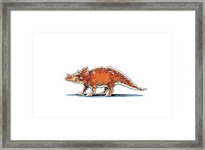 Brachyceratops Dinosaur Framed Print