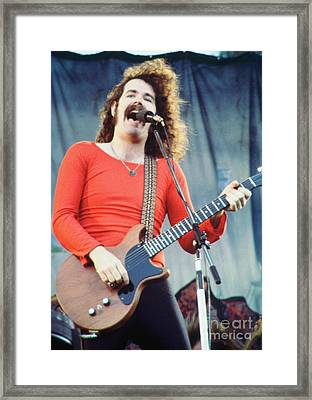 Brad Delp Of Boston-day On The Green 1 In Oakland Ca 5-6-79 1st Release Framed Print
