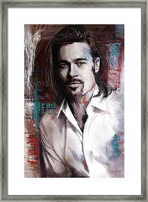 Brad Pitt Framed Print by Corporate Art Task Force