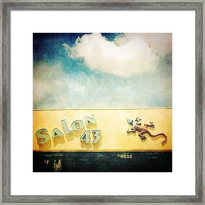 Bradenton Gecko 2 Framed Print by Beth Williams