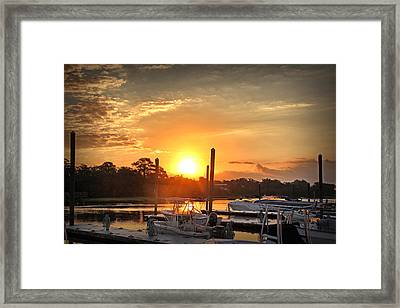Bradley Creek Sunday Sunrise #3 Framed Print